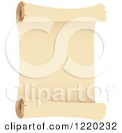 Clipart Of A Vintage Parchment Paper Scroll 2 Royalty Free Vector Illustration