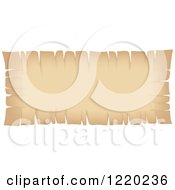 Clipart Of A Vintage Parchment Banner Royalty Free Vector Illustration by cidepix
