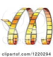 Clipart Of A Curles Of Orange Film Strip Royalty Free Vector Illustration