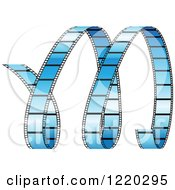Clipart Of A Curles Of Blue Film Strip Royalty Free Vector Illustration