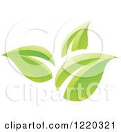 Clipart Of Green Organic Leaves Royalty Free Vector Illustration by cidepix