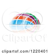 Clipart Of A Colorful Dome And Reflection 4 Royalty Free Vector Illustration