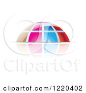 Clipart Of A Colorful Dome And Reflection 5 Royalty Free Vector Illustration