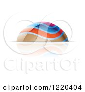 Clipart Of A Colorful Dome And Reflection Royalty Free Vector Illustration