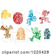 Clipart Of Ancient Hieroglyph Tribal Art Royalty Free Vector Illustration by Vector Tradition SM