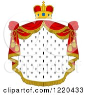 Clipart Of A Crown And Royal Mantle With Red Drapes 5 Royalty Free Vector Illustration
