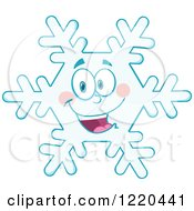 Clipart Of A Happy Snowflake Mascot Royalty Free Vector Illustration