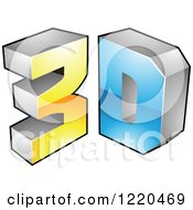 Clipart Of A 3d Icon 13 Royalty Free Vector Illustration by cidepix