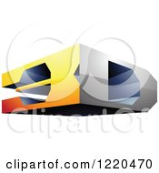 Clipart Of A 3d Icon 2 Royalty Free Vector Illustration by cidepix