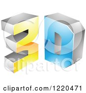 Clipart Of A 3d Icon 6 Royalty Free Vector Illustration by cidepix