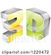 Clipart Of A 3d Icon 7 Royalty Free Vector Illustration by cidepix