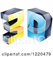 Clipart Of A 3d Icon 8 Royalty Free Vector Illustration by cidepix