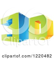 Clipart Of A 3d Icon 5 Royalty Free Vector Illustration by cidepix