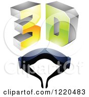 Clipart Of A 3d Icon With Glasses 7 Royalty Free Vector Illustration by cidepix