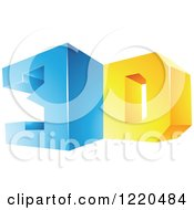 Clipart Of A 3d Icon 4 Royalty Free Vector Illustration by cidepix