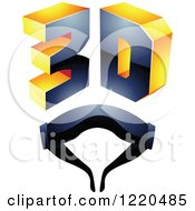 Clipart Of A 3d Icon With Glasses 6 Royalty Free Vector Illustration by cidepix