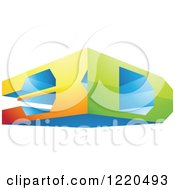 Clipart Of A 3d Icon 3 Royalty Free Vector Illustration by cidepix