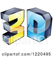 Clipart Of A 3d Icon 14 Royalty Free Vector Illustration by cidepix