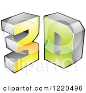 Clipart Of A 3d Icon 12 Royalty Free Vector Illustration by cidepix
