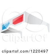 Clipart Of A Pair Of 3d Glasses Royalty Free Vector Illustration by cidepix