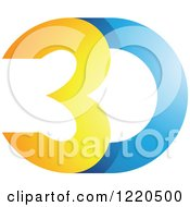 Clipart Of A 3d Icon 10 Royalty Free Vector Illustration