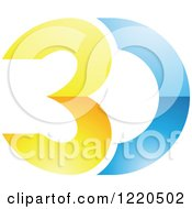 Clipart Of A 3d Icon 11 Royalty Free Vector Illustration