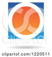 Clipart Of A Floating Blue And Orange Circle Icon Royalty Free Vector Illustration