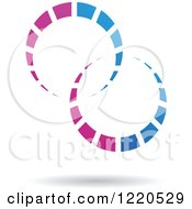 Clipart Of A Floating Blue And Purple Rings Icon Royalty Free Vector Illustration