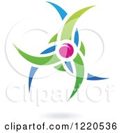 Clipart Of A Floating Plum Fruit And Leaf Icon Royalty Free Vector Illustration