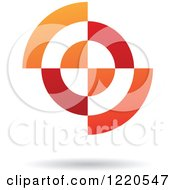 Clipart Of A Red And Orange Abstract Icon 3 Royalty Free Vector Illustration