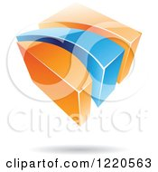 3d Abstract Orange And Blue Logo 2