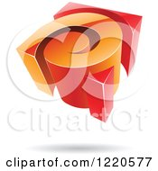 Clipart Of A 3d Orange And Red Spiral Logo Royalty Free Vector Illustration by cidepix