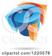 Clipart Of A 3d Orange And Blue Spiral Logo Royalty Free Vector Illustration by cidepix