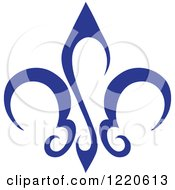 Clipart Of A Blue Fleur De Lis Royalty Free Vector Illustration by cidepix