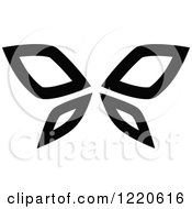Clipart Of A Black And White Butterfly Royalty Free Vector Illustration by cidepix