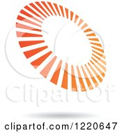 Clipart Of A Floating Orange Circle Icon Royalty Free Vector Illustration