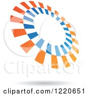 Clipart Of A Floating Blue And Orange Circle Icon 2 Royalty Free Vector Illustration