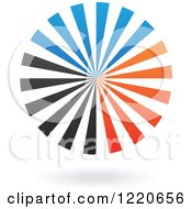 Clipart Of A Floating Blue Orange And Black Ray Icon Royalty Free Vector Illustration by cidepix