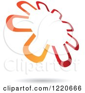 Clipart Of A Red And Orange Windmill Or Flower Icon Royalty Free Vector Illustration by cidepix