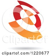 Clipart Of A Red And Orange Abstract Icon 2 Royalty Free Vector Illustration