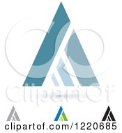 Clipart Of Letter A Icons Royalty Free Vector Illustration by cidepix