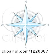Clipart Of A Compass Star Royalty Free Vector Illustration