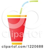 Clipart Of A Fountain Soda Royalty Free Vector Illustration by cidepix