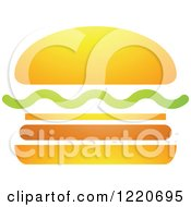 Clipart Of A Hamburger Royalty Free Vector Illustration by cidepix