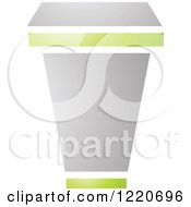 Clipart Of A Cardboard Cup Royalty Free Vector Illustration by cidepix