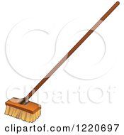 Clipart Of A Shop Broom Royalty Free Vector Illustration