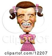 3d Arnold Schwarzenegger As A Girly Man In A Pink Dress