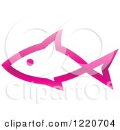 Clipart Of A Pink Fish 2 Royalty Free Vector Illustration