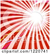 Clipart Of Retro Red Rays With Light Flares Royalty Free Illustration by Arena Creative