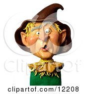 Clay Sculpture Clipart George W Bush As A Scarecrow Royalty Free 3d Illustration